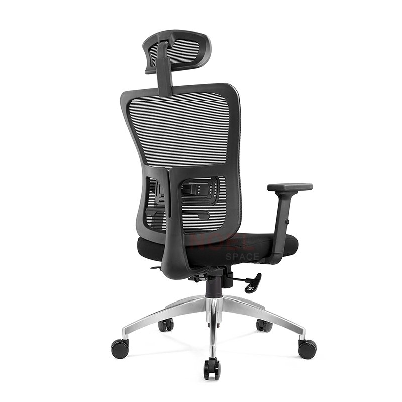Computer task black mesh chair with aluminium base  A8033
