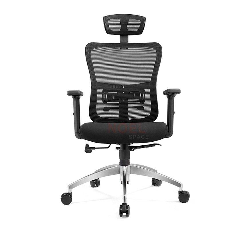 Computer task black mesh chair with aluminium base  A8033