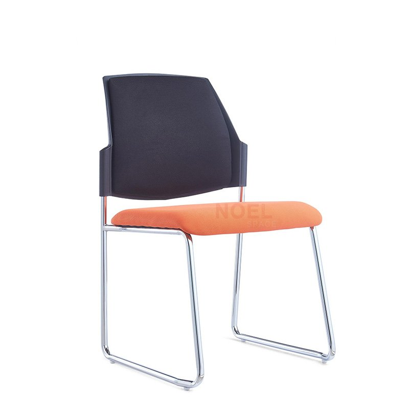 Hot sales fabric padded seat training chair with black coating frame D2610