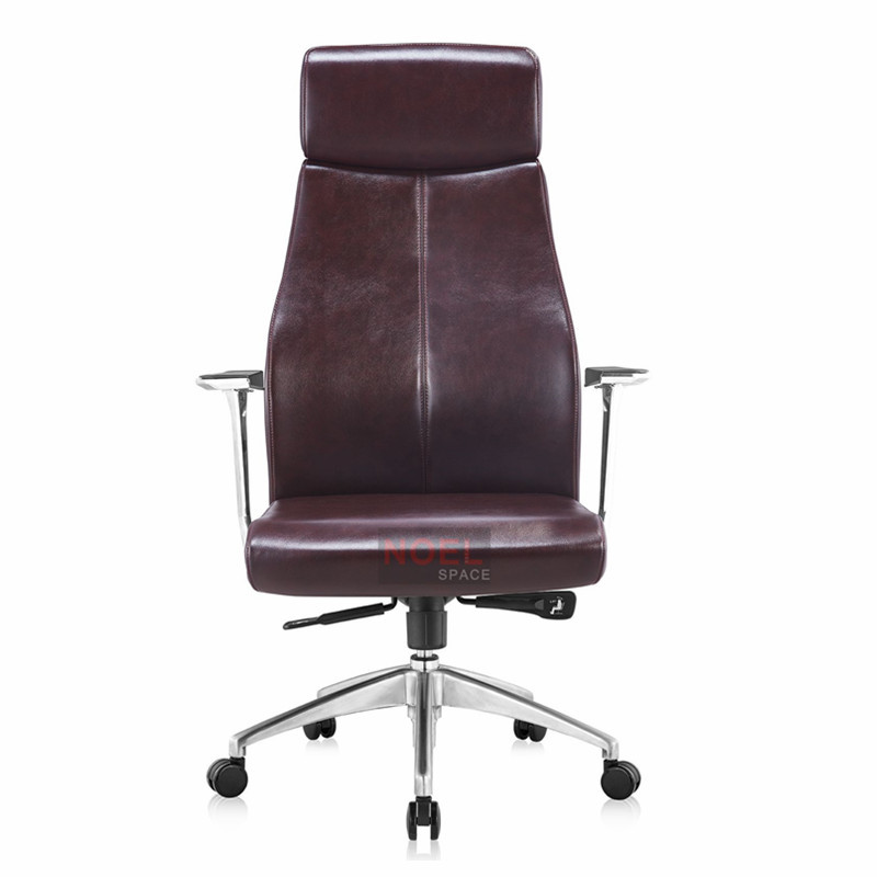 Luxury executive office chair aluminum base swivel chair A2363