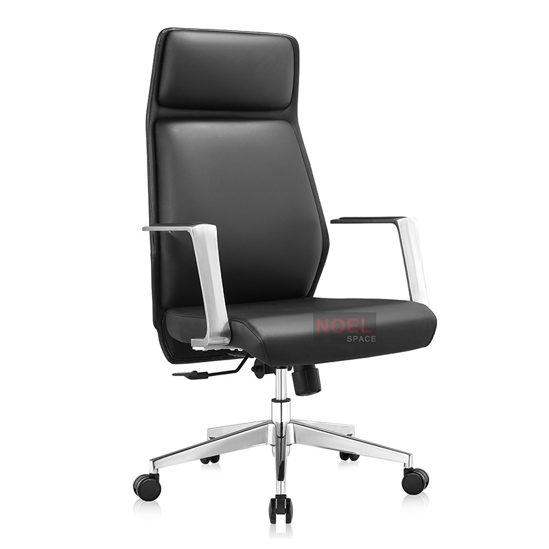 Hot sell high back ergonomic adjustable office chair with PU back A2353(black)
