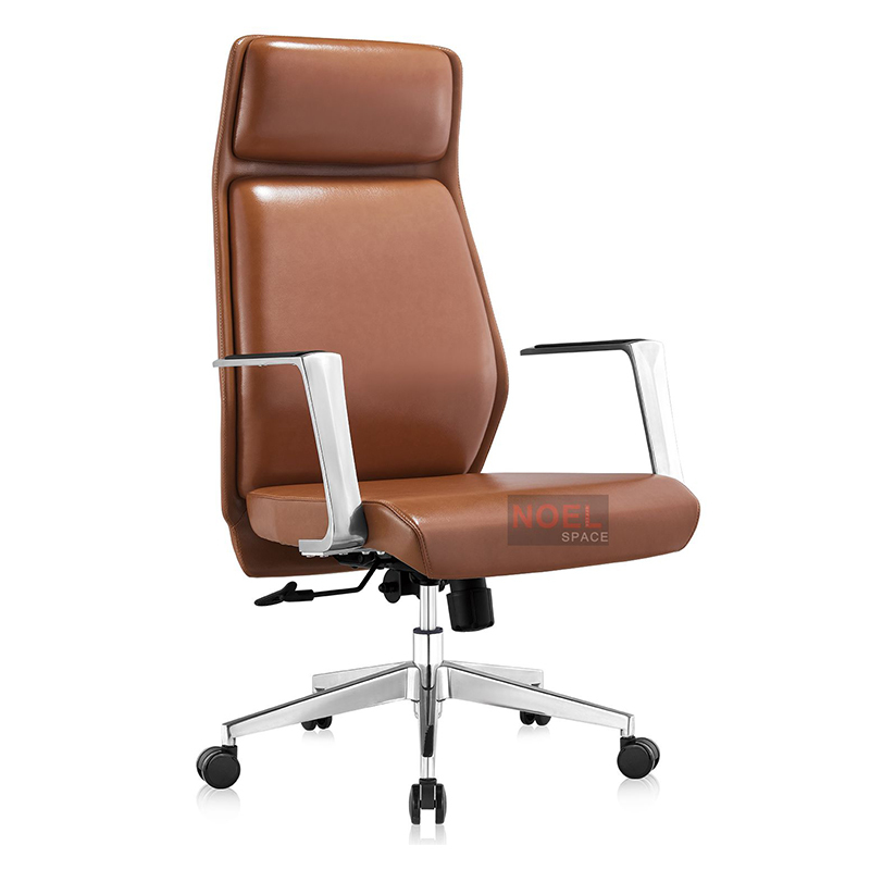 High back swivel chrome metal base office chair A2353