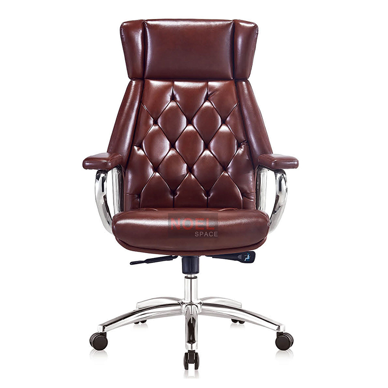 High back leather executive office chair for manager A2388 (brown)