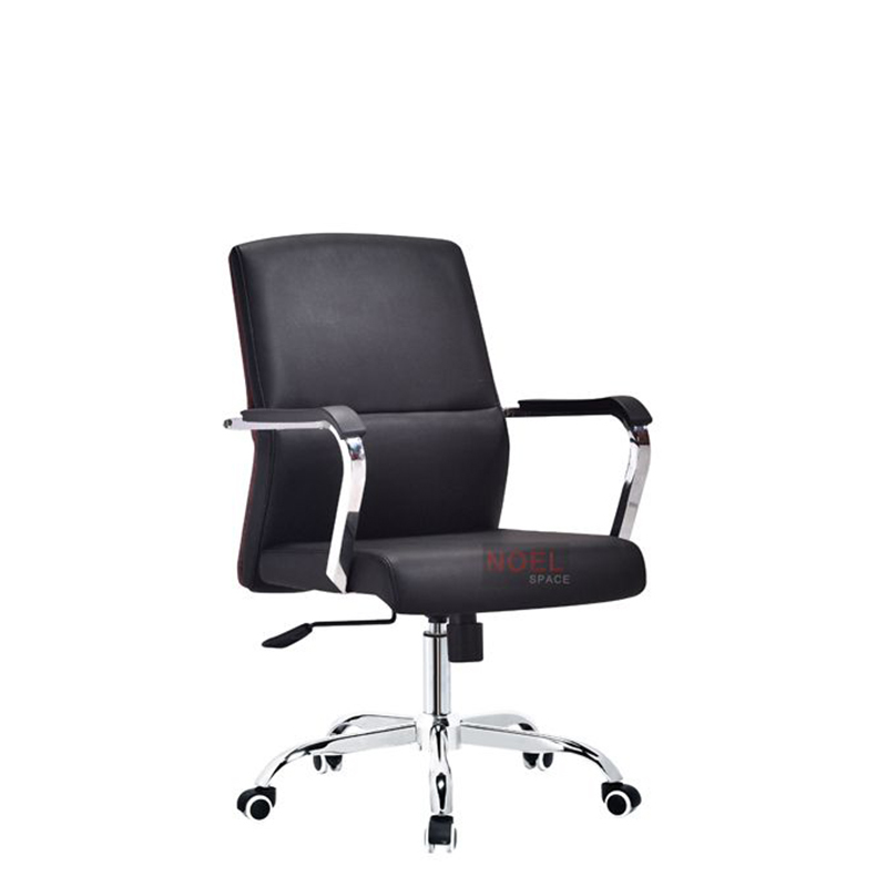 Swivel chair middle back PU office chair B2831
