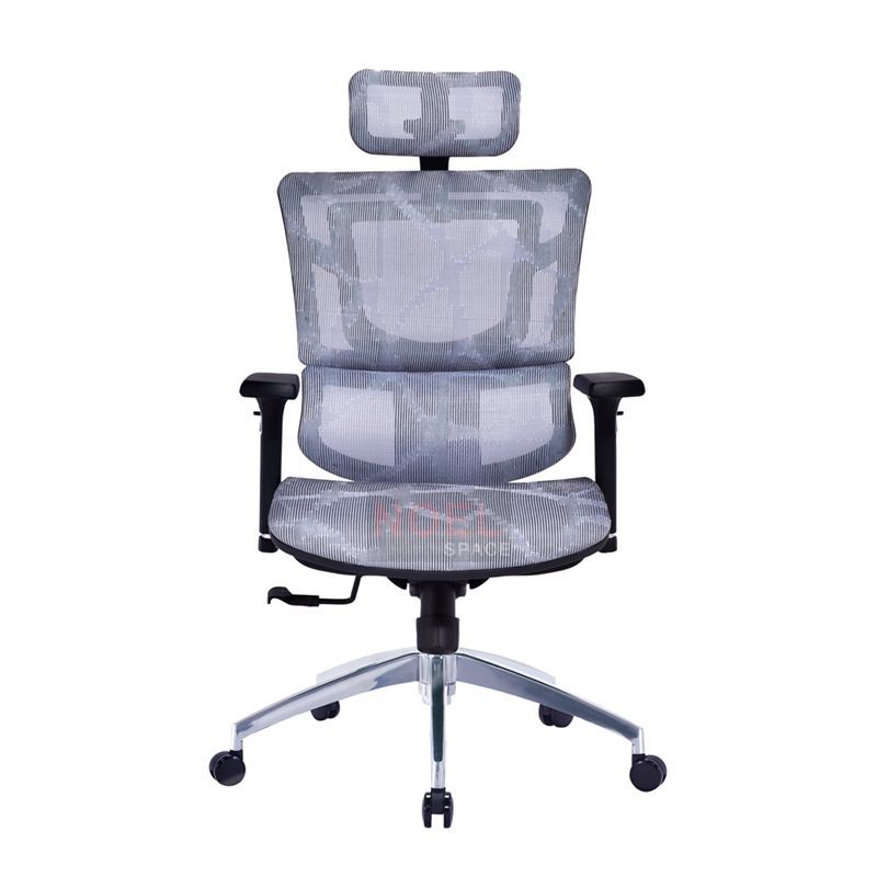 Ergonomic design swivel office seating mesh chair with aluminium base