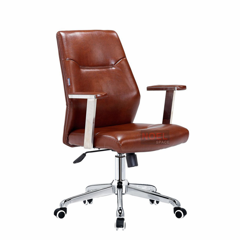 China Foshan manufacturer modern PU office swivel chair 1502