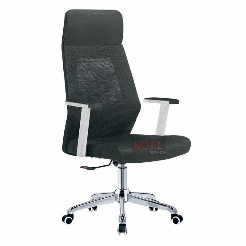Hot sale modern executive chrome lift mesh office chair 1298-3