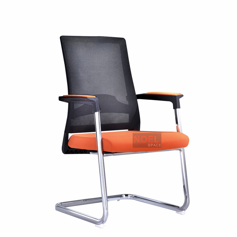 Wholesale conference room furniture executive mid back office chair D2620 Orange + black