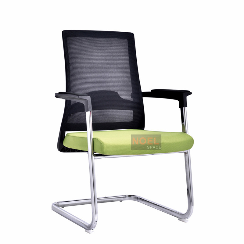 Mib back mesh comfortable visitor chair D2620 Geen + black
