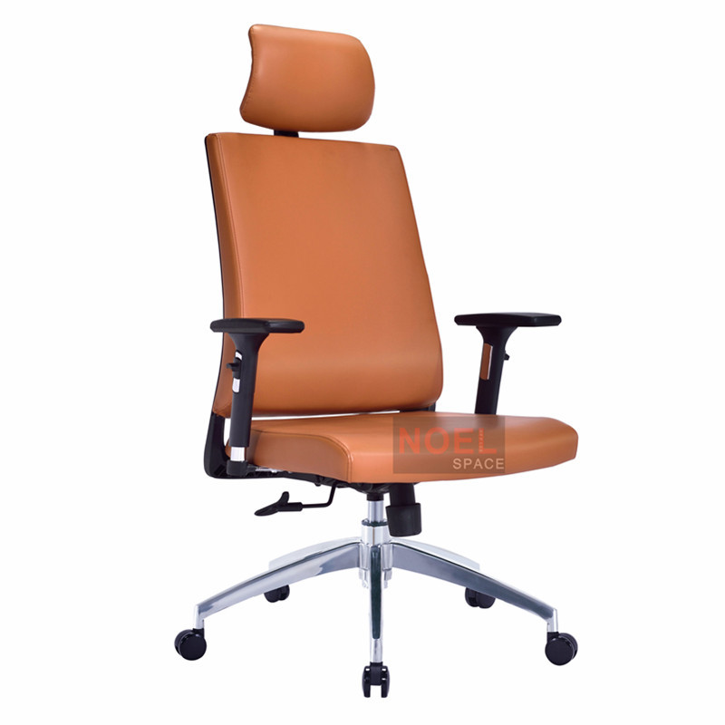 Comfortable executive furniture ergonomic PU office chair A2623 brown