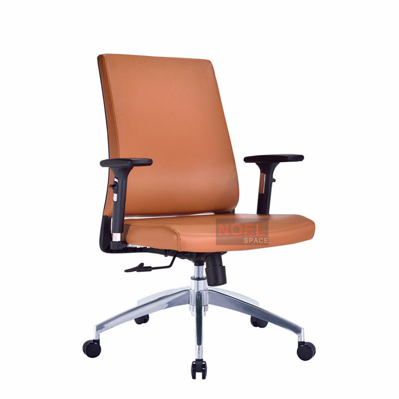 High quality swivel office chair task PU chair B2623 brown