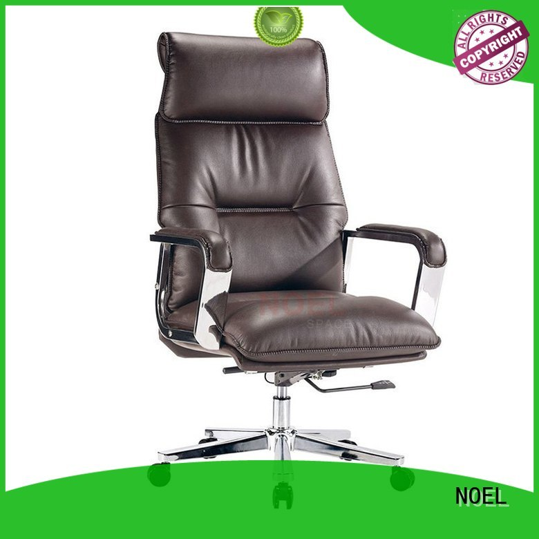 NOEL Brand covered ergonomic quality stainless executive chair