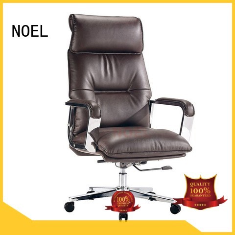 NOEL Brand leather pu executive chair stainless factory